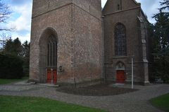 Old Dutch church in small village 2 stock image