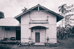 Old Dutch Colonial House in Tebing-Tinggi Royalty Free Stock Image