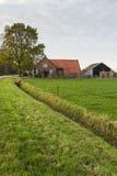 Old Dutch farm in autumn Stock Photo