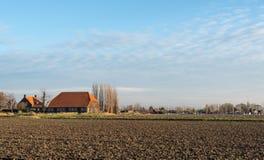 Old Dutch farm in the autumn season Royalty Free Stock Image