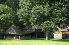 Old dutch farm house. In museum in Drenthe Stock Images