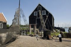 Old dutch fishing village Stock Photo