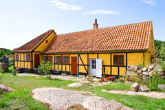 Old dutch house on Christianso Island. In a sunny day Royalty Free Stock Image