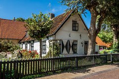 Old Dutch house in Hollum, Ameland, Holland Stock Photography