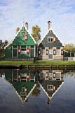 Old dutch houses. From ancient times in the countryside from Netherlands Stock Image