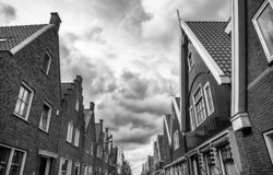 Old Dutch houses. Detail of tourism in Europe netherlands traditional holland architecture ancient building historic amsterdam volendam village heritage brick royalty free stock image