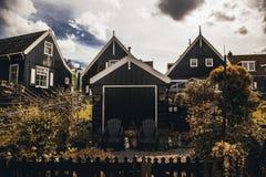 Ancient Dutch houses stock image
