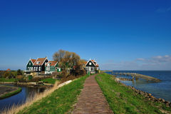 Old dutch houses in Marken Royalty Free Stock Photography