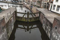 Old Dutch lock at Spaarndam royalty free stock images