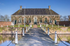 Old dutch mansion Verhildersum near Leens Royalty Free Stock Photos