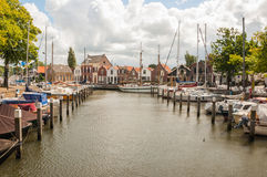 Old Dutch Marina Stock Photography