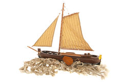 Old Dutch sail boat royalty free stock images
