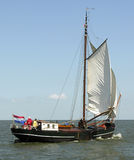 Old dutch ship. In open water Royalty Free Stock Photos
