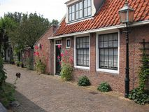 Old dutch village Stock Photos