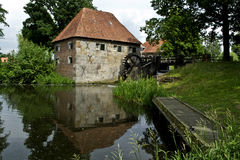Old Dutch water mill Stock Photos