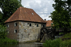 Old Dutch water mill Stock Photo