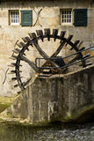 Old Dutch water mill Stock Images