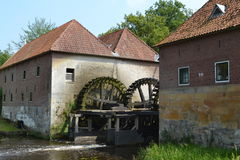 Old Dutch water mill Royalty Free Stock Photos