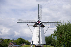 Old dutch wind mill Stock Photo