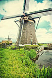 Old dutch  windmill Stock Images