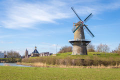 Old Dutch Windmill Stock Photos