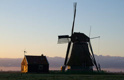 Old Dutch windmill Stock Image