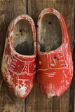 Old Dutch wooden clogs or klomp Stock Photos