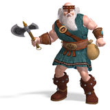 An old dwarf with an axe Stock Photo