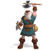 An old dwarf with an axe Stock Images