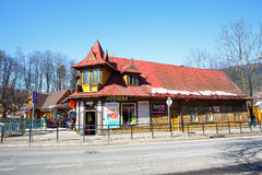 Old dwelling house in Zakopane Stock Image