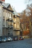 Old dwelling houses in Lviv, Ukraine Stock Images