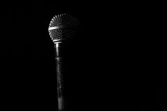 The old dynamic vocal microphone, beautiful, background. Space for text Royalty Free Stock Images