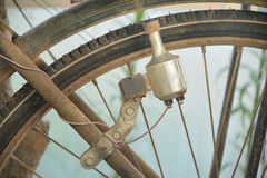 Old dynamo of a bicycle. Royalty Free Stock Images