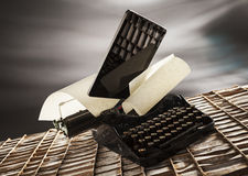 Old e new typing Stock Image