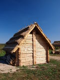 Old early-medieval hut, Zmijowiska, Poland Stock Images