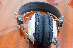 Old earphone Royalty Free Stock Photo