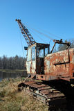 Old earth mover. Lonely old rusty earth mover royalty free stock image