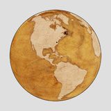 Old Earth World Map PLAIN stock image