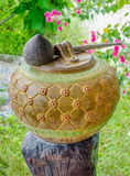 Old earthenware thai style Stock Photography