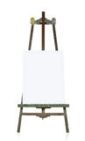 Old easel with blank canvas template Royalty Free Stock Photography