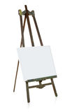 Old easel with blank canvas template Royalty Free Stock Photo