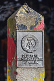 An old east berlin ddr border sign in berlin germany Stock Photo