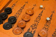 Old east board game backgammon Royalty Free Stock Photos