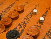 Old east board game backgammon Stock Image