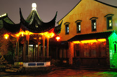The old east gate at night. In nanjing china Royalty Free Stock Images