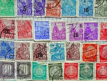 Old East German Postage Stamps Royalty Free Stock Image