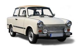 Old Eastern European car. Isolated on white including clipping path Stock Image