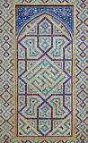 Old Eastern mosaic on the wall, Uzbekistan Stock Images