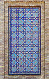 Old Eastern mosaic on the wall, Uzbekistan Royalty Free Stock Images