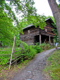 Old ecological cabin in Sweden Stock Photos